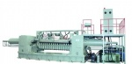 Hydraulic double spindle veneer peeling machinery